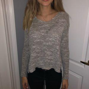 Hollister Co. Grey Split End Sweater